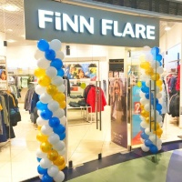 Украсили входную группу магазина Finn Flare.